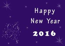 Het gelukkige beeld van de Nieuwjaargroet Royalty-vrije Stock Foto