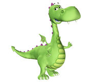 Het Gelukkige Beeldverhaal van de draak - Royalty-vrije Stock Afbeelding
