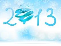 Het gelukkige blauw van het Nieuwjaar 2013. + EPS8 Stock Afbeeldingen