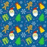Het gelukkige Blauw van het Kerstmispatroon Stock Foto's