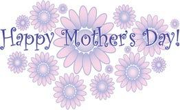 Het gelukkige boeket van de Moeder` s Dag Stock Afbeeldingen