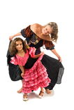 Het gelukkige Dansen van Meisjes Royalty-vrije Stock Afbeelding