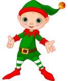 Het gelukkige Elf van Kerstmis Royalty-vrije Stock Afbeeldingen