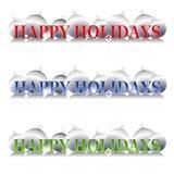 Het gelukkige Embleem van de Ornamenten van de Vakantie Stock Afbeelding