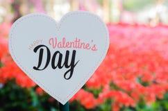 Het gelukkige etiket van de Valentijnskaartendag Stock Foto