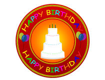Het gelukkige etiket van de Verjaardag Royalty-vrije Stock Afbeelding