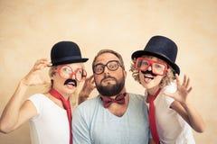 Het gelukkige familie spelen in huis royalty-vrije stock foto's