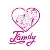 Het gelukkige familie van letters voorzien Stock Foto