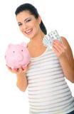 Het gelukkige Geld van de Besparing van het Mamma Stock Foto's