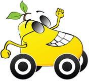 Het gelukkige gele peer lopen vector illustratie