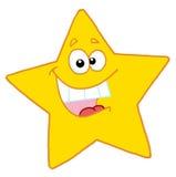 Het gelukkige gele ster glimlachen Royalty-vrije Stock Afbeeldingen