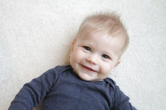 Het gelukkige Gezicht van de Baby Stock Foto