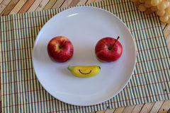 Het gelukkige Gezicht van het Fruit Royalty-vrije Stock Foto's