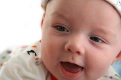 Het gelukkige Glimlachen van de Jongen van de Baby Royalty-vrije Stock Foto's