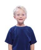 Het gelukkige Glimlachen van de Jongen van de Blonde Stock Afbeelding