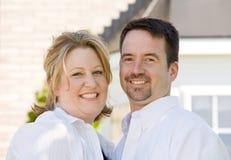 Het gelukkige Glimlachen van het Paar Stock Foto's