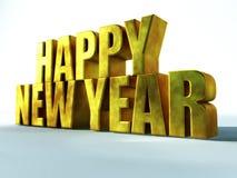 Het gelukkige Goud van het Nieuwjaar Stock Afbeeldingen