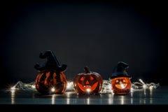 Het gelukkige Halloween-concept van het decoratiefestival Stock Afbeelding