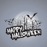 Het gelukkige Halloween-Malplaatje van het Kaartontwerp - Vectorillustratie Stock Afbeeldingen