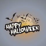 Het gelukkige Halloween-Malplaatje van het Kaartontwerp - Vectorillustratie Royalty-vrije Stock Fotografie