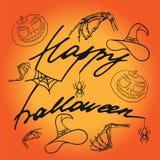 Het gelukkige Halloween-Van letters voorzien royalty-vrije stock fotografie