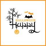Het gelukkige Halloween-Van letters voorzien Royalty-vrije Stock Foto