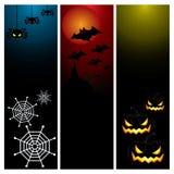 Het gelukkige Halloween-vastgestelde ontwerp van de dagbanner Royalty-vrije Stock Afbeelding