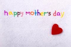 Het gelukkige handschrift van de Moeder` s Dag Royalty-vrije Stock Foto's
