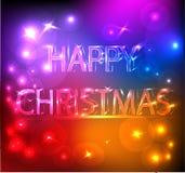 Het gelukkige Heldere Effect van Kerstmis Royalty-vrije Stock Afbeelding
