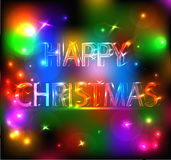 Het gelukkige Heldere Effect van Kerstmis Royalty-vrije Stock Fotografie