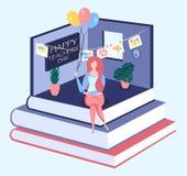Het gelukkige isometrische concept van de lerarendag vector illustratie
