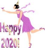 Het gelukkige jaar van 2020 vector illustratie