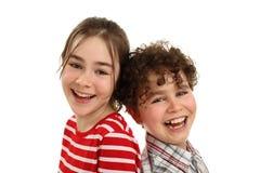 Het gelukkige jonge geitjes glimlachen Royalty-vrije Stock Foto's