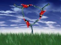 Het gelukkige jonge meisjes vliegen Royalty-vrije Stock Afbeelding