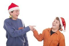 Het gelukkige jonge vrienden lachen Royalty-vrije Stock Fotografie