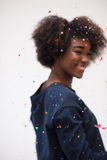Het gelukkige jonge vrouw vieren Royalty-vrije Stock Foto