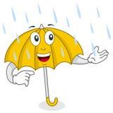 Het gelukkige Karakter van de Paraplu stock illustratie