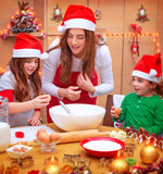 Het gelukkige Kerstmis koken Stock Foto's
