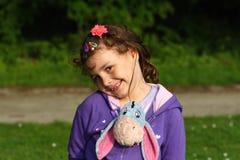 Het gelukkige kind glimlachen Stock Foto