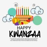 Het gelukkige Kwanzaa-festival van de Vierings Afrikaanse Amerikaanse vakantie van oogst vector illustratie