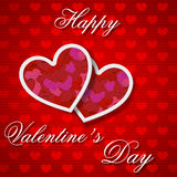 Het gelukkige malplaatje van de de groetkaart van de Valentijnskaartendag Stock Foto's