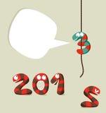 Het gelukkige malplaatje van het Nieuwjaar 2013 Royalty-vrije Stock Foto's