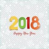 Het gelukkige malplaatje van het Nieuwjaar 2018 abstracte ontwerp Stock Foto's