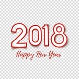 Het gelukkige malplaatje van het Nieuwjaar 2018 abstracte ontwerp royalty-vrije illustratie