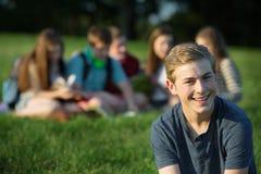 Het gelukkige Mannetje van de Tiener Stock Foto