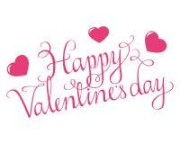 Het gelukkige Manuscript van de Valentijnskaartendag Royalty-vrije Stock Foto's