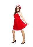 Het gelukkige meisje kleedde zich als het Meisje van de Sneeuw royalty-vrije stock foto