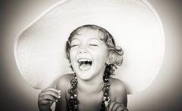 Het gelukkige meisje lachen Stock Fotografie