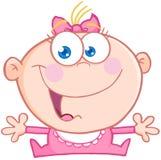 Het gelukkige Meisje van de Baby met Open Wapens Stock Fotografie
