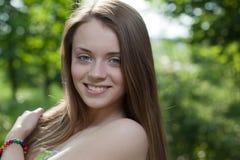 Het gelukkige meisje van de close-up Royalty-vrije Stock Foto
